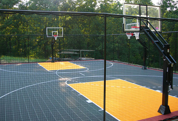 Sport fencing and netting the fence man for Basketball court cost estimate